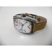 Reloj Dama Locman Panorama Diamantes Cuarzo Piel Avestruz.
