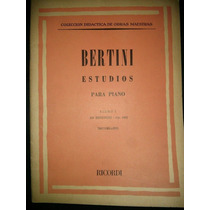 Bertini Estudios Libro 1 Partituras Piano