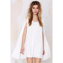 Vestido Capa Cape Dress Chiffon Duas Cores Tendência 2016