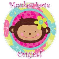 Kit Imprimible Monkey Love Original Mas Pack Adicional