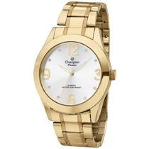 Relógio Champion Feminino Dourado Ch24268h Kj