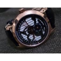 Relógio V / Constantin Automatico Couro Novo Raro