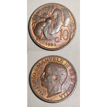 Moneda Italia 10 Centesimos 1920 Fabulosa