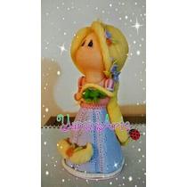 Adorno Rapunzel Princesas Niña Naif En Porcelana Fría