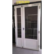 Puerta Y Media De Aluminio 120x200