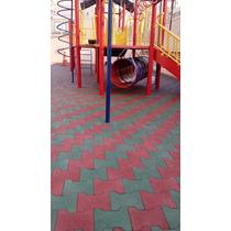 Piso De Borracha Reciclada Formato Ossinho Para Playground