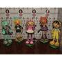 Turma Da Monster High Em Eva 3d 35 Cm - Kit C/ 5