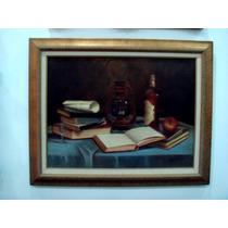 Quadro Livros - Obra, Arte, Acadêmico,natureza Morta, Estilo