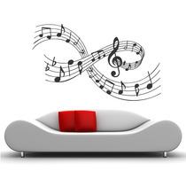 Adesivo De Parede Música Temas Musicais Rock Notas Partitura