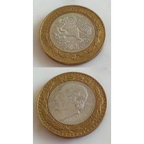 Moneda Mexico 20 Nuevos Pesos 1993 Bimetalica