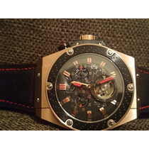 Relógio Luxo Edição F1 Tur Billon Dourado