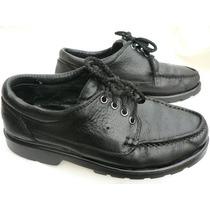 Zapato Cuero Hombre Niño Leñador Escolar Colegio Nº 38