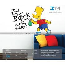 Vinilo Decorativo Los Simpsons 06. Calcomanía Bart Graffiti.