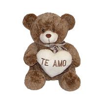 Urso De Pelúcia Te Amo 30cm Marrom