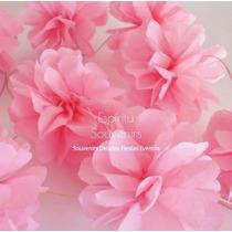 Guirnaldas Flores De Papel De Seda Eventos Decoracion