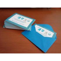 Convite Infantil Personalizado + Envelope R$ 1,00 Cada