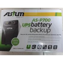 Ups Y Regulador Voltaje Asium 650va 4 Nema Usb 120v As-p700