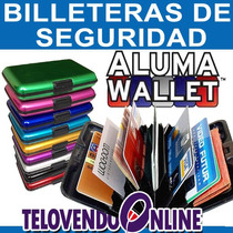 Aluma Wallet Cartera-billetera Protectora D Aluminio 9colore