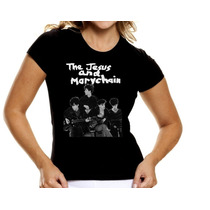 Camiseta Feminina Baby Look Jesus Mary Chain,mod 1