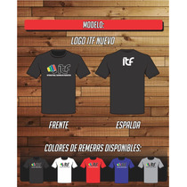 Remera Taekwondo - Logo Itf Nuevo- 100% Algodon -ac Estampas