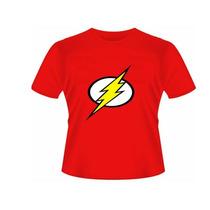 Camiseta Baby Look Simbolo Flash- Feminino