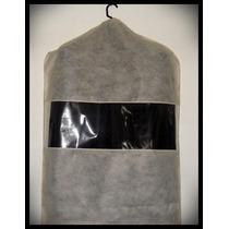 Capa Protetora De Vestido Em Tnt Gr 45 Com Visor Em Pvc.