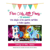 20 Pines My Little Pony Personalizados (55mm)