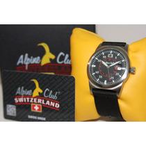 Relógio Suiço Alpine Club Switzerland Novo Esportivo Smw.5