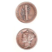 Moneda Estados Unidos Usa 1 Dime 1927 De Plata