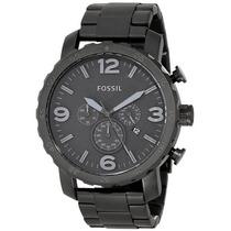 Relógio Fossil Masculino Jr1401 Metal Preto Novo Original