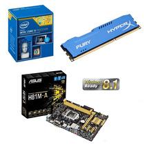 Kit I5 Asus H81m-a + Intel Core I5 4460 + 8gb Ddr3 Hyper X