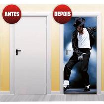Adesivo Para Porta Michael Jackson X4adesivos ( P58 )