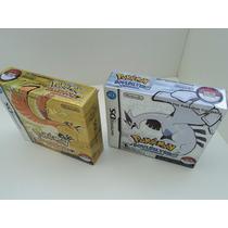 Super Box Pokemon Heart Gold + Soul Silver Ds /3ds Impecavel