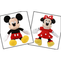 Mickey Mouse Y Mimi Roja 2 Peluches Disney Store 23 Cm