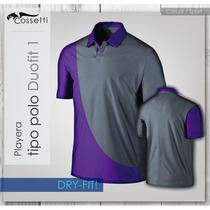 Playera Tipo Polo Dry-fit! Corte Duo-fit Combina Colores!!
