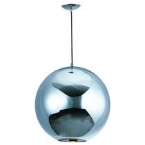 Lampara Colgante Esfera Solar Cristal Espejo Cromo 40cm Et2