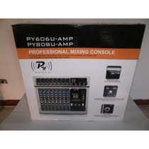 Consola Amplificada Py Audio De 6 Canales-entrada Usb