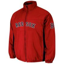 Chamarra Majestic Oficial De Juego Boston Red Sox Mediana