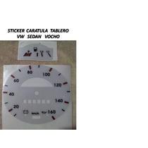 Sticker Vinil Reflejante Caratula Tablero Vw Sedan Vocho