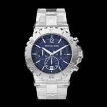 Relógio Michael Kors Mk5409 Transparente C/azul,frete Gratis