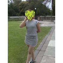 Hermosa Minifalda Short Green Dog Talla 14 Traída D Usa