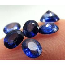 Safira Azul Oval 3,4x2,7 ~ 3x2,5 Mm - Preço Unitário