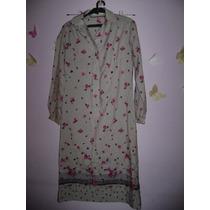 Vestido En Seda, Floreada . Lanvin Original Tipo Chemisse