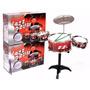 Bateria Musical Infantil Niños Jazz Drum Con Banco