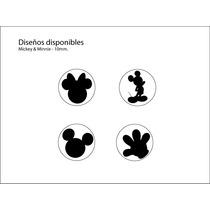 Set 4 Sacabocados Con Forma Mickey Mouse 10mm 4 Diferentes