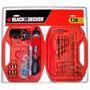 Kit Atornillador + 138 Piezas Black And Decker Bd7260
