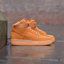 Zapatillas Air Force One High Brown Gum Suede Winter Wheat