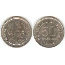 Moneda Argentina 50 Centavos Serie San Martin 1956
