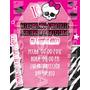 Tarjetas De Invitacion Monster High - Invitaciones Epv