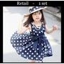 Vestido De Bolinha Criança Infantil Pronta Entrega
